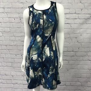 Mossimo Ladies Blue White and Black Dress